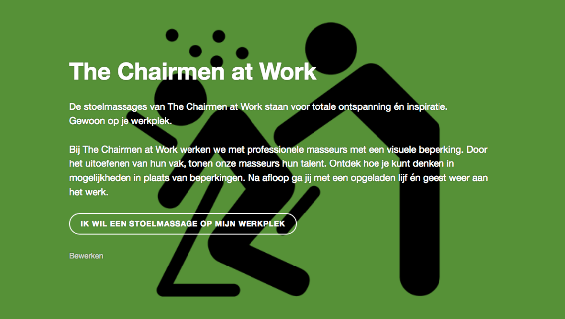 Le Stylo voor The Chairmen at Work - stoelmassages op je werkplek